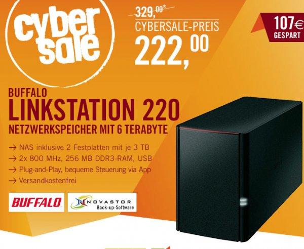 Buffalo LinkStation 220 NAS 6TB für 222€@Cyberport