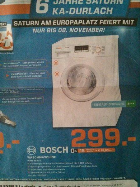Bosch Waschmaschine WAB 28221 bei Saturn Karlsruhe 299,- nächster Preis: 346