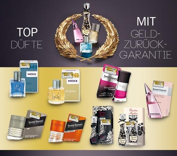 Gratis Parfüms dank durch Düfte-Geld-Zurück-Garantie [for-me-online.de]