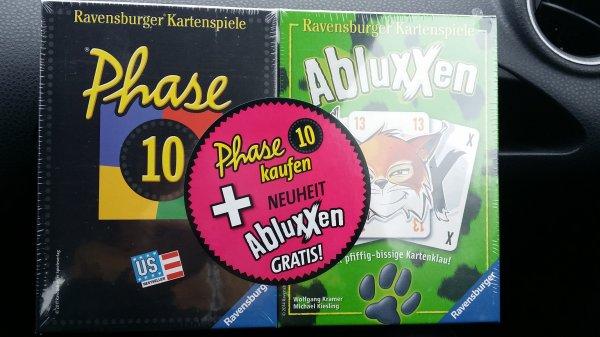 [Bundesweit ] [Rossmann][auch Amazon  (prime)] 2x Ravensburger  Kartenspiele: Phase 10 und Abluxxen für  11.99€