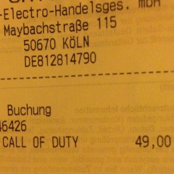 [Lokal Köln] Call of Duty Advanced Warfare  Saturn Hansaring