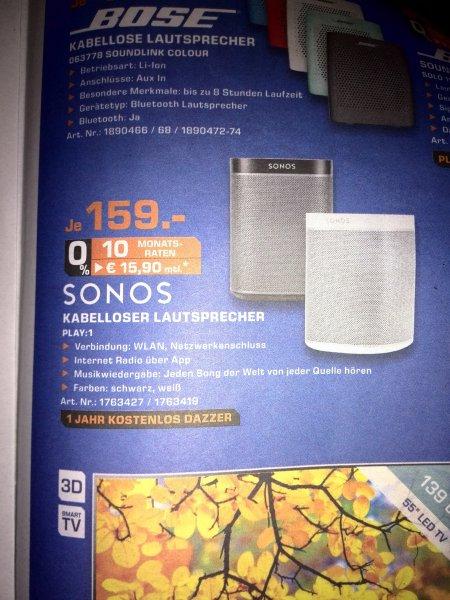 [Nur Saturn Moers?] Sonos Play:1 159€