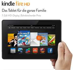 Kindle Fire HD-Tablet Die zweite Generation des Kindle Fire, jetzt in HD. 7-Zoll-HD-Display (17 cm), WLAN, 8 GB oder 16 GB
