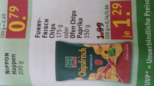 Funny Frisch Chips bei Rossmann für 1,29€