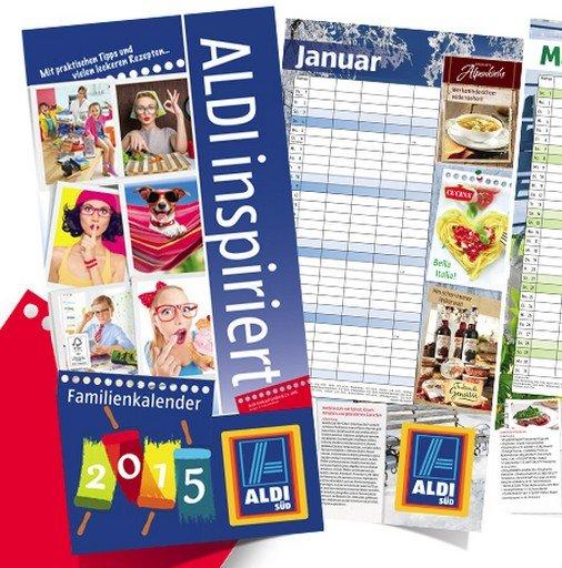 Aldi Süd gratis Familienkalender / Familienplaner 2015 ab 10.11.