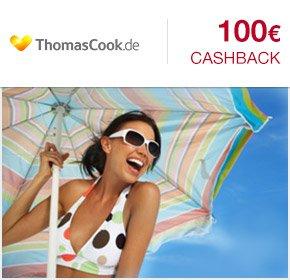 [ Qipu ] Thomas Cook :100€ Cashback für deine Lastminute- oder Pauschalreisebuchung und 20€ Cashback für deine Hotelbuchung