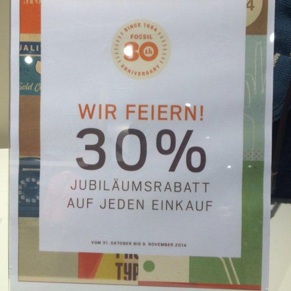 [Lokal Bremen] 30% Rabatt bei Fossil