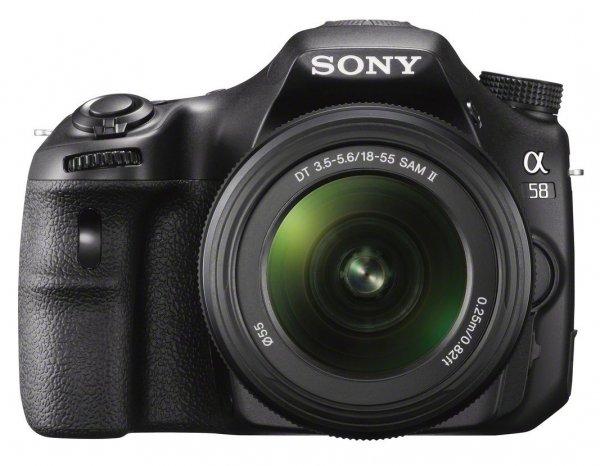 Sony SLT-A58K SLR-Digitalkamera inkl. SAL 18-55mm Objektiv