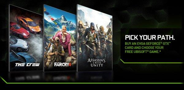 Far Cry 4, Assassin's Creed Unity oder The Crew kostenlos beim Kauf einer GTX 970 / 980 / 780 (ti)