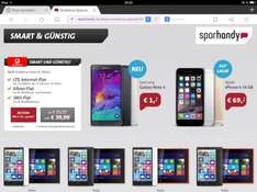 Sparhandy Vodafone Bundle Nokia 930 Smartphone + 2520 Tablet  für 39,99€ im Vodafone Smart XL Tarif