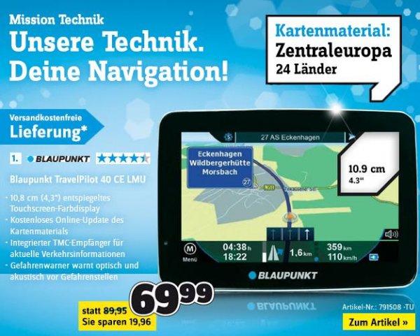 Conrad: Blaupunkt Travelpilot 40 CE LMU Navi für 69,99 EUR