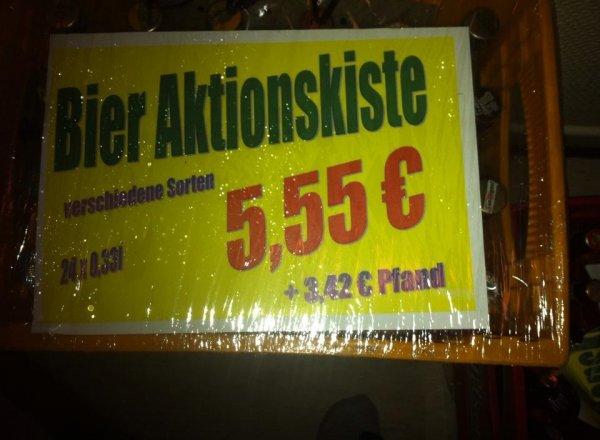 Marktkauf Bielefeld Gadderbaum Mischbier Kiste 5,55 € + Pfand