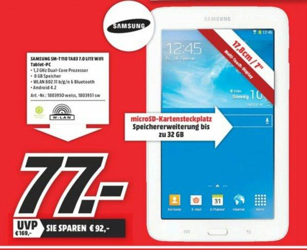 SAMSUNG SM-T 110 TAB3 7.0 LITE WIFI bei Media Markt Peine Sonntag 9.11.2014
