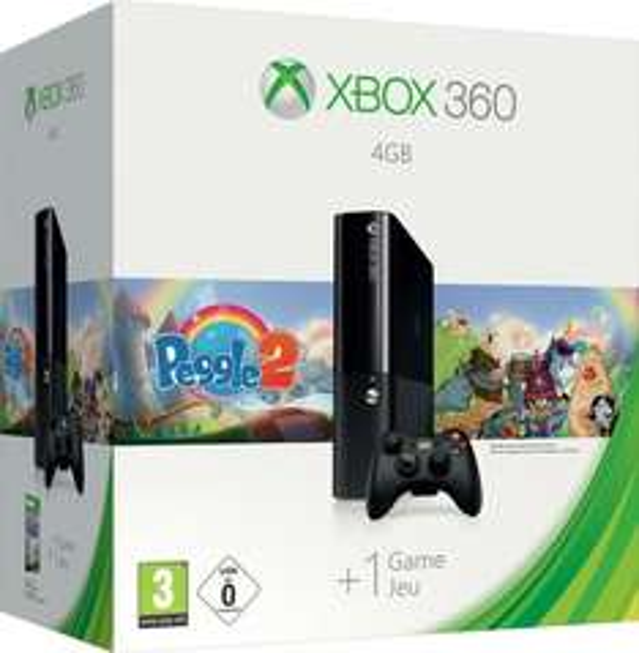Xbox 360 E 4GB + Peggle 2 für 148,07€ @Amazon.fr