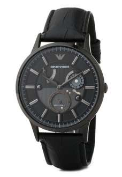 Emporio Armani AR4661 Automatik Uhr mit Lederarmband