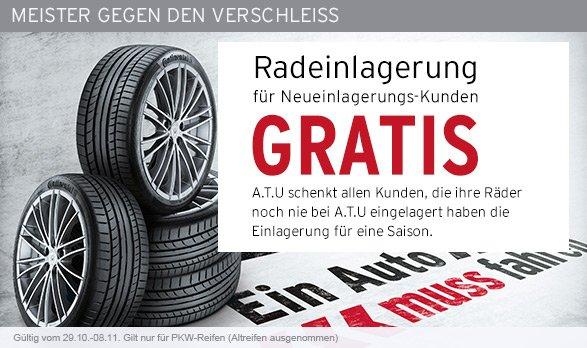 [A.T.U.] Kostenlose Reifeneinlagerung für Neueinlagerungs-Kunden (Wert ~30 Euro)