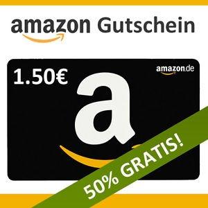 1,50€ Amazon Gutschein für 1€ bei Ebay