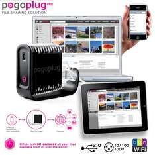Cloud Engines Pogoplug Pro Multimedia-Sharing-Lösung mit WLAN und 4 x USB @iBood.de