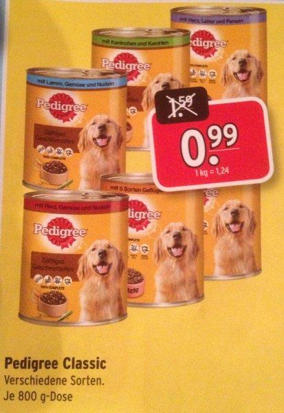 [Lokal Raiffeisen-Markt-Rhedebrügge] Pedigree Classic 0.99€/800g Dose | Verschiedene Sorten | 37% Ersparnis