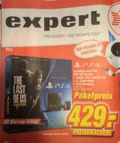 (Lokal) 429€ PS4 500GB + Kamera + 2. Controller + The Last of Us