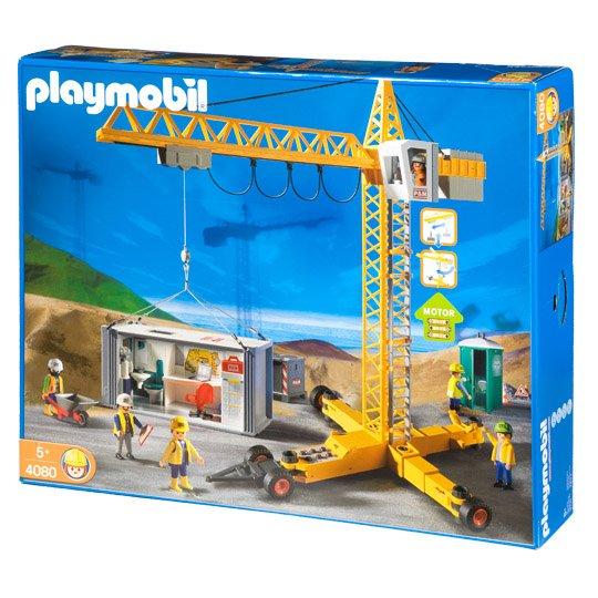 [ Real ]  Playmobil, 4080 Mega-Bauset Baustellenkran 50,95€