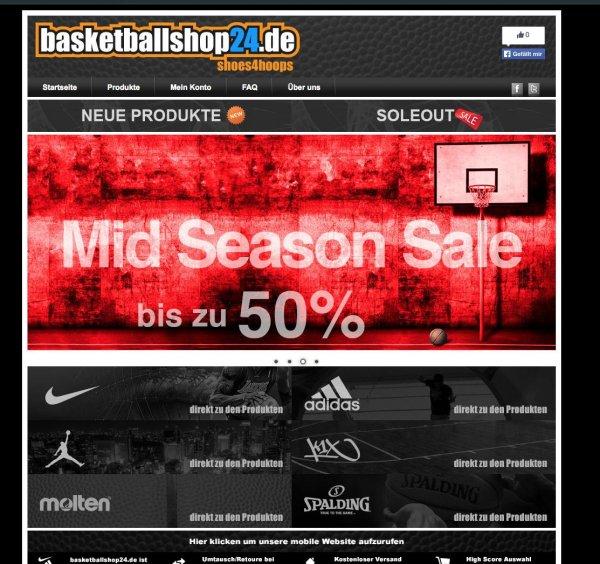 Mid Season Sale bei Basketballshop24.de bis zu 50% Rabatt auf Nike Adidas Jordan Basketballschuhe