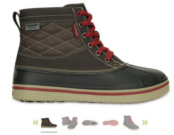Crocs Men's AllCast Waterproof Duck Boot bis Größe 47/48 mit 20€ Gutschein + kostenfreien Versand + 5% QIPU für 75,99€