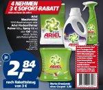 [Real] 4 Ariel nehmen und 3€ Sofort Rabatt Einzelpreis 2,84€ ab Montag 10.11
