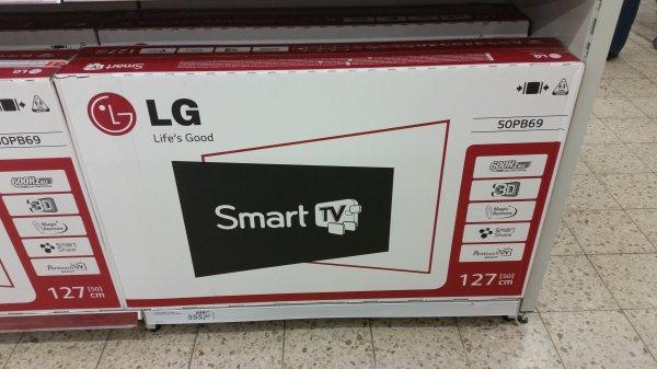 "LG Plasma 50PB690V  3D 55"""