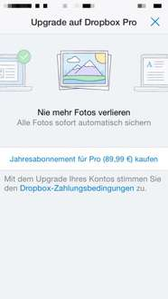 1 Jahr Dropbox Pro (1 TB) für 89,99€
