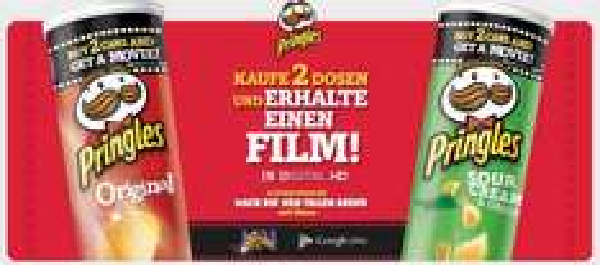 Pringles - Aktion Kauf 2 Dosen und erhalte einen Film! in Digital HD [Google Play]