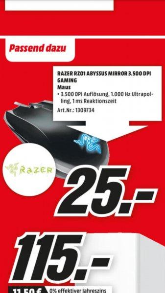 Gaming Maus Razer Abyssus Mirror RZ01 [lokal MM Kassel]