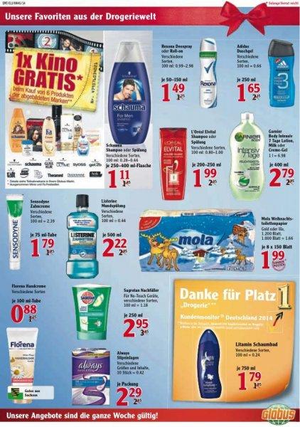 Globus: Erst Duschen und dann gratis ins Kino (für 6x Schwarzkopf Produkte kaufen)