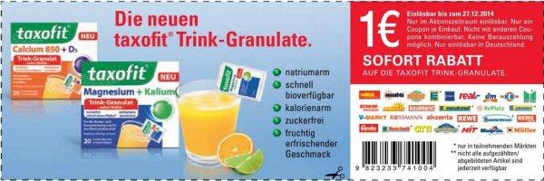 Taxofit Trinkgranulat bei Rossmann für 0,20 durch 1,00 € Coupon