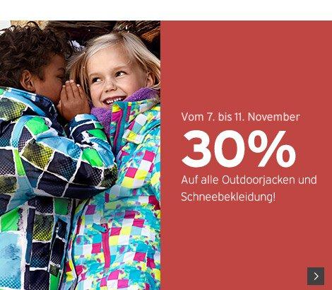 ERNSTINGS FAMILY 30 % auf Schneebekleidung und Jacken