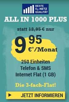 McSim All in 1000 Plus (250/250/1000) 9,99€ O2-Netz