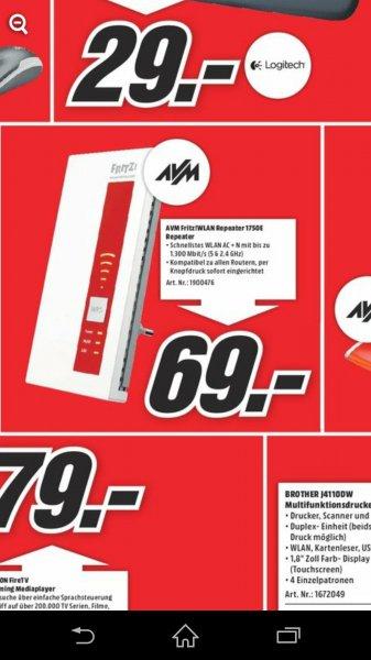 Avm Fritz 1750E Repeater Lokal Hamburg für 69€
