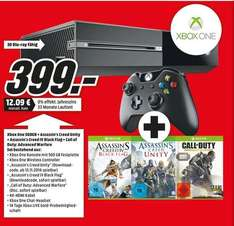 [Lokal Bremen] Xbox One 500GB + Call of Duty + Assassins Creed Blackflag + Assassins Creed Unity