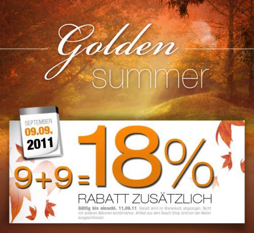 Golden Summer Sale bei dress-for-Less , 18% Rabatt + 8 % Cashback, z.B. Diesel Sneaker inkl. VSK für 34€