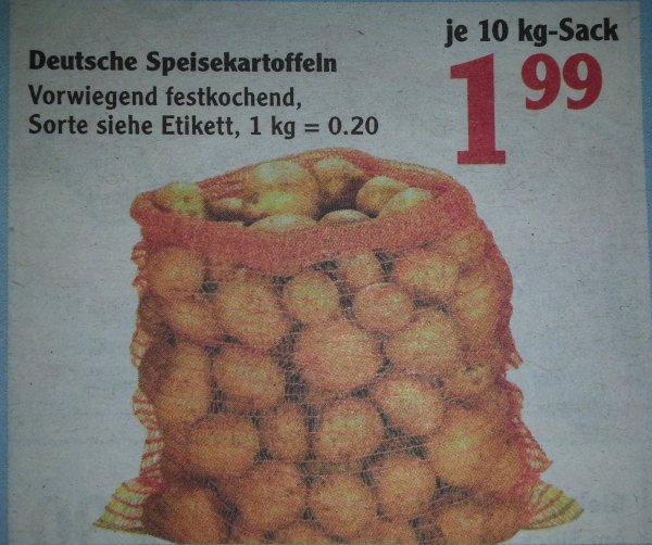 (Globus Maintal,Grünstadt) 10 KG Deutsche Speisekartoffeln 1,99€