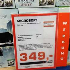 Xbox one 500gb + Assissins Creed Unity + Black Flag + 2 Wochen Gold im Saturn Osnabrück
