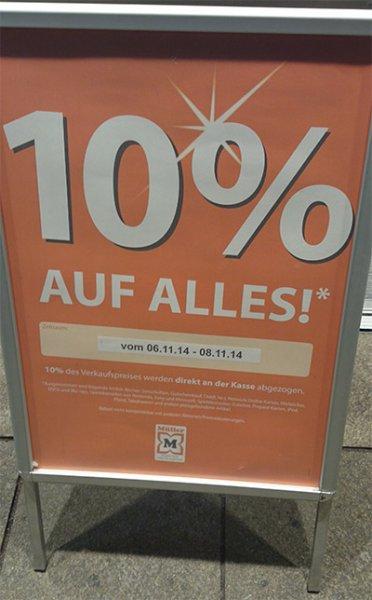 "[Stuttgart] Drogerie Müller ""10% auf alles"""