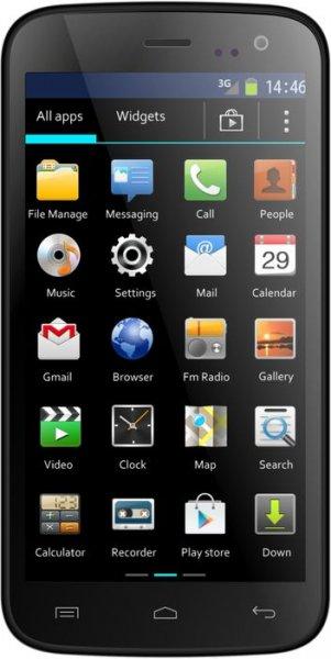 Mobistel Cynus F4 Smartphone (1,3GHz Dual Core Prozessor,micro SD, Dual Sim,11,4 cm (4,5 Zoll) IPS Display,5 Megapixel Kamera, Bluetooth 4.0, NFC, Android 4.2) für 73,90 bei real.de versandkostenfrei