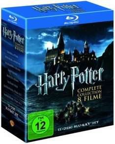 [Blu-ray] Harry Potter - Complete Collection (Teil 1 - 7.2, 11 BDs) für 32€ @ Alphamovies