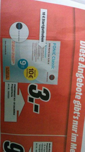 MediaMarkt [bundesweit] Fonic SIM-Karte