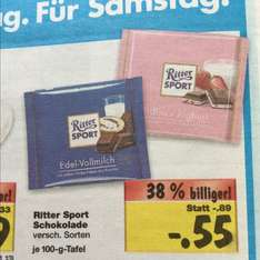 0,55€ Ritter Sport 100g Kaufland Super Weekend ab 13.11 - 15.11