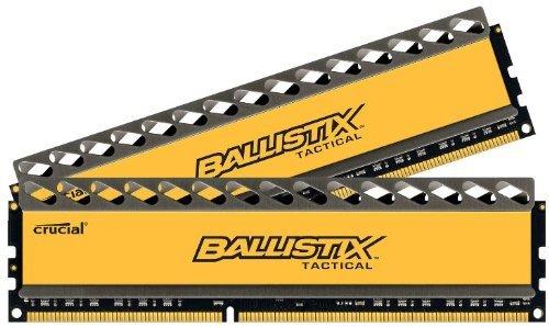 Crucial BLT2CP8G3D1608DT1TX0CEU Ballistix Tactical Arbeitsspeicher 16GB (1600MHz, CL8, 240-polig, 2x 8GB) DDR3-RAM Kit für 120,22 € @Amazon.es