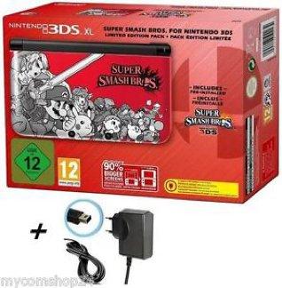 Nintendo 3DS XL -Rot + Super Smash Bros. Limited Edition Inkl. LADEKABEL NEU&OVP + 1 Bonus Game
