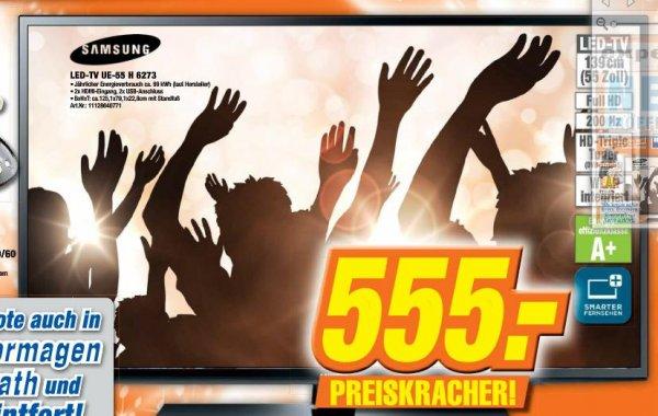 Samsung 55 Zoll LED TV UE55H6273 für nur 555 Euro bei Expert in Neuss, Dormagen, Dinslaken, Kamp-Lintfort, Simmerath