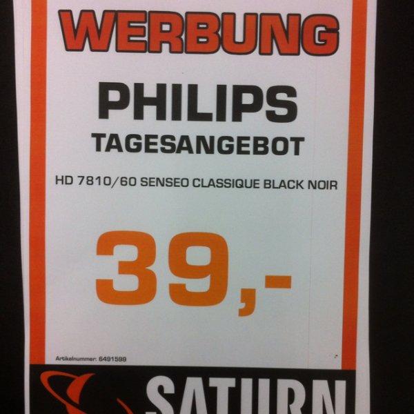 Senseo HD 7810/60 Black Tagesangebot Verkaufsoffener Sonntag Saturn Duisburg